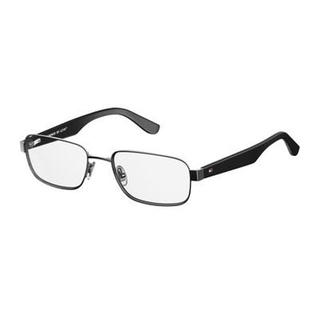 - Tommy Hilfiger Metal Rectangular Eyeglasses 53 0KJ1 Dark Ruthenium