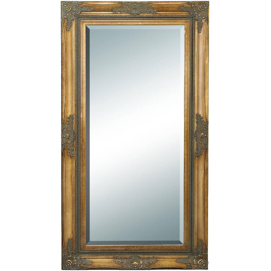 Decmode Wood Beveled Mirror, Multi Color