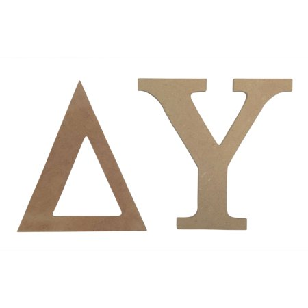 Delta upsilon 75quot unfinished wood letter set walmartcom for Delta upsilon letters