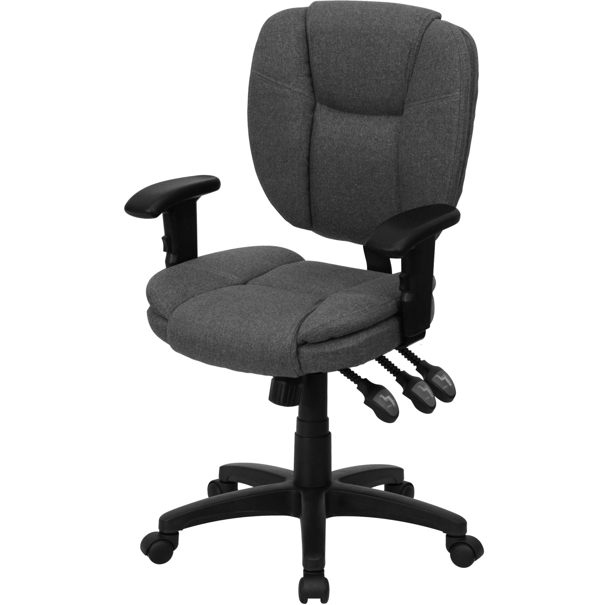 Fabric Multi-Function Task Chair with Arms, Multiple Colors