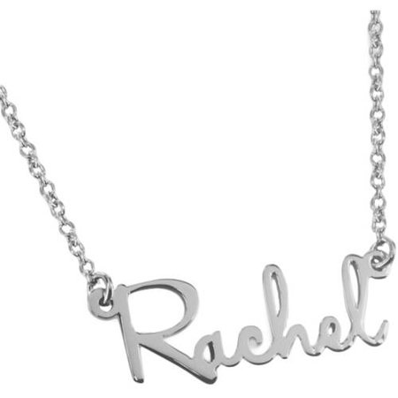 Sterling Silver Name Necklace - MonogramOnline Sterling Silver Mini Name Necklace