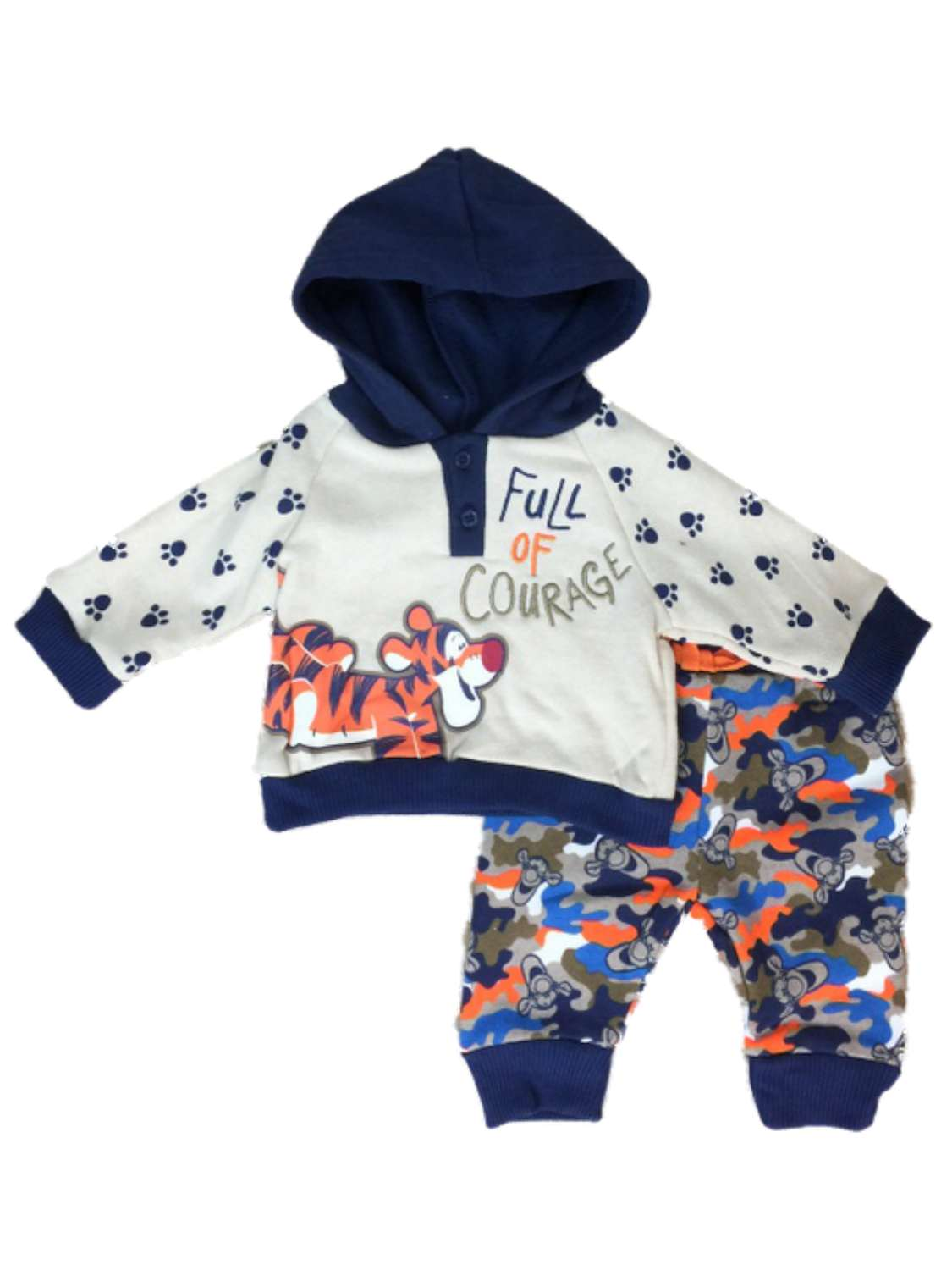 Disney Winnie The Pooh Infant Boys Tigger Baby Outfit Courage Hoodie & Pants Set