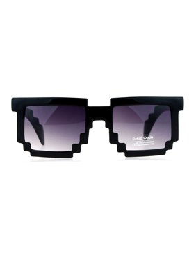 958d7a428 Product Image SA106 Gamer Nerd 8 Bit Pixelated Horn Rim Rectangular  Sunglasses