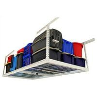 4 ft. x 8 ft. Garage Overhead Storage Rack (24 in. - 45 in. H/White)