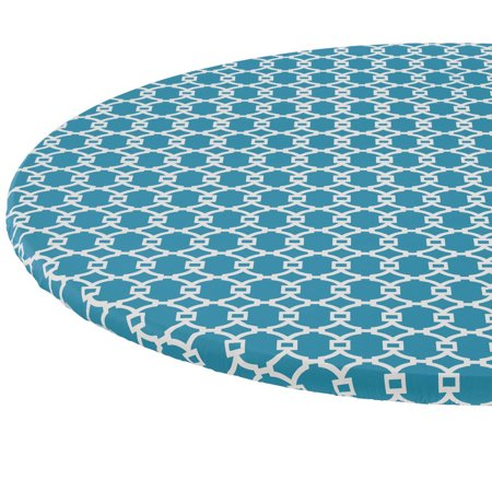 Lattice Vinyl Elasticized Table Cover-spcies-42