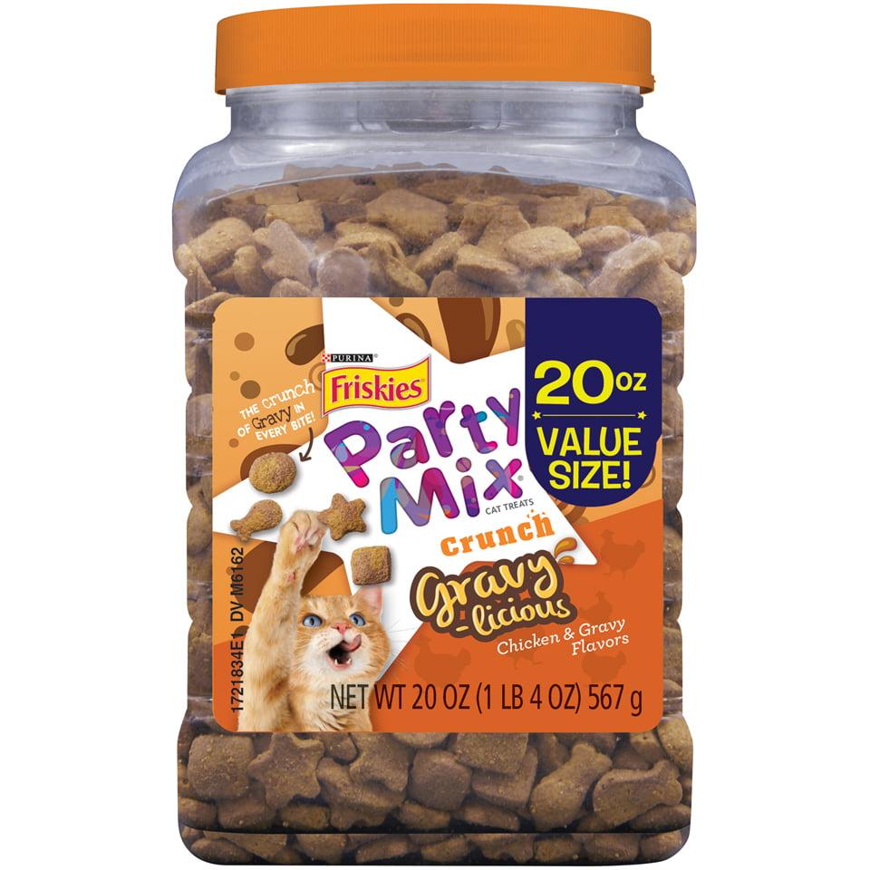 Friskies Party Mix Gravylicious Cat Treats, 20 oz. Canister