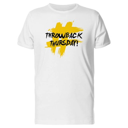 #Throwback Thursday Tee Men's -Image by Shutterstock - Throwback Clothes Ideas