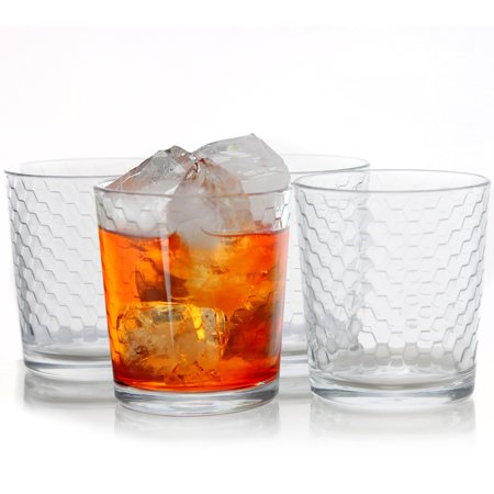 10-Piece 13 oz Double Old Fashion Glass Set, Clear