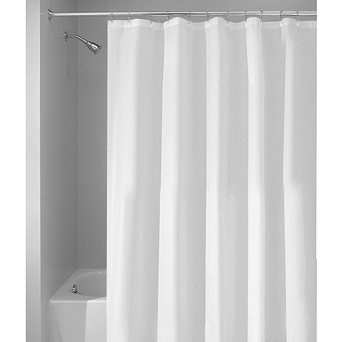 InterDesign Mildew Free, Water Repellent Fabric Shower Curtain Liner,  Various Sizes