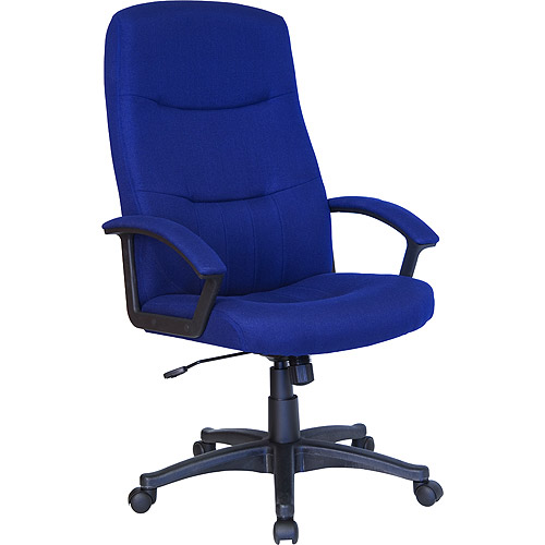 Fabric Executive High-Back Swivel Office Chair, Navy