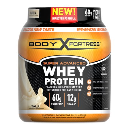 Body Fortress Super Advanced Whey Protein Powder, Vanilla, 60g Protein, 2 (Best Whey Protein Shakes For Weight Loss)