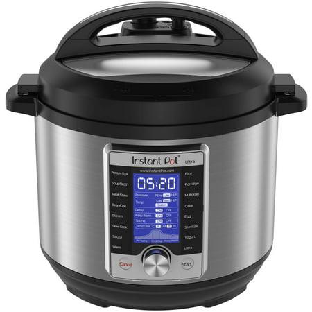 Instant Pot Ultra Electric Pressure Cooker 6 Qt 10 In 1 Multi Programmable Pressure Cooker, Slow Cooker, Rice Cooker, Yogurt Maker, Cake Maker, Egg Cooker, Saute, Steamer, Warmer, and Sterilizer