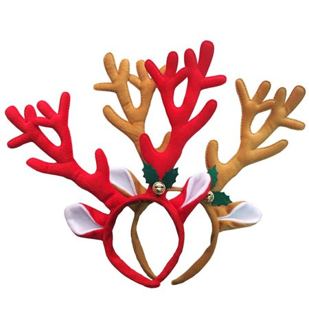 Heepo Reindeer Antlers Headband Headwear Hair Hoop Christmas Cosplay Party Accessory (Misty Cosplay Shoes)