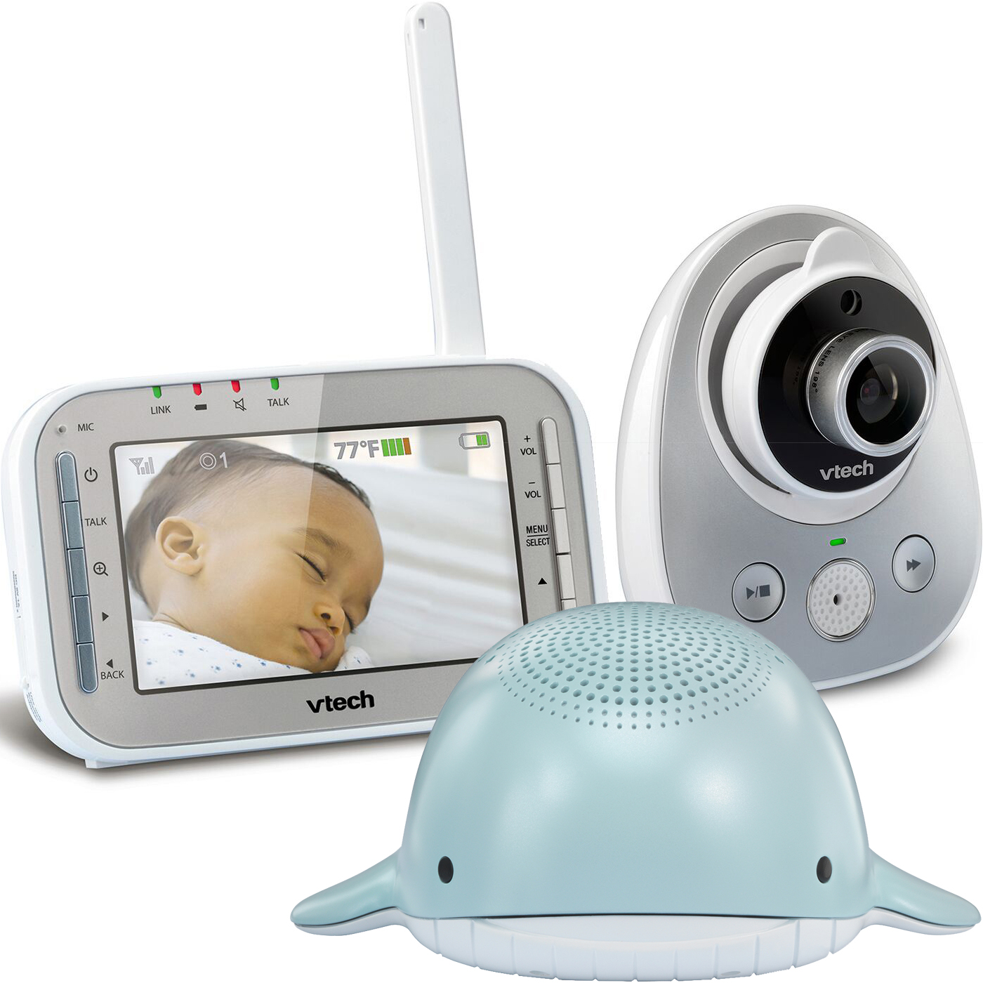 VTech Wide Angle Digital Video Baby Monitor Bundle with (1) VM342 Monitor & (1) BC8312 Wyatt Soother