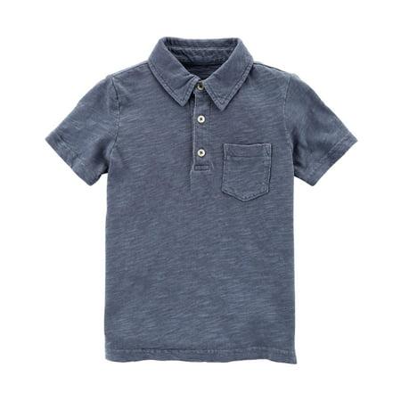 Carter's Boys' Garment-Dyed Slub Jersey Polo