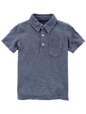 4d4f5fb7 Product Image Carter's Boys' Garment-Dyed Slub Jersey Polo