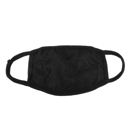 Soft Stretchy Ear Loop Face Mouth Mask Muffle Solid Black, 7