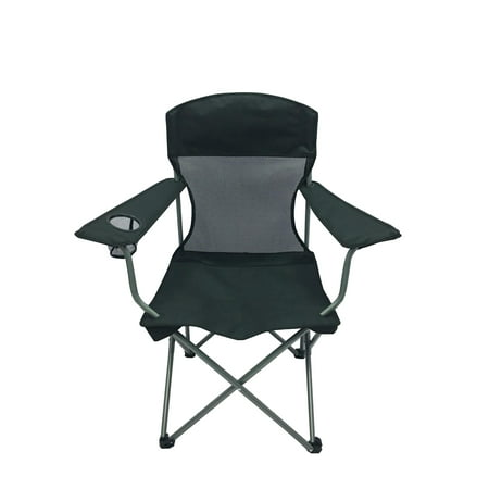 Ozark Trail Basic Mesh Quad Fodling Camp Chair Black