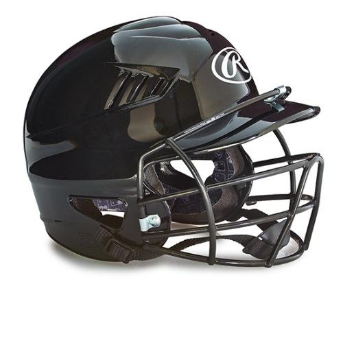 Rawlings Baseball Batting Helmets With Face Mask - Black Color: Black