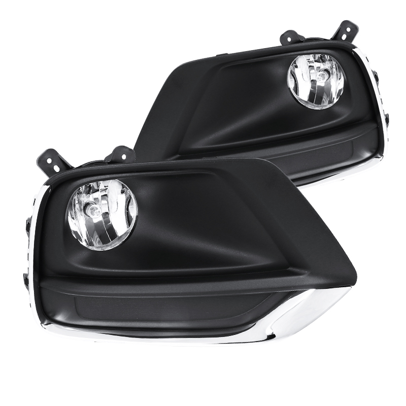 Spec-D Tuning 2017-2019 Chevy Trax Clear Driving Bumper Fog Lights Lamps W/Wiring Left + Right 17 18 19