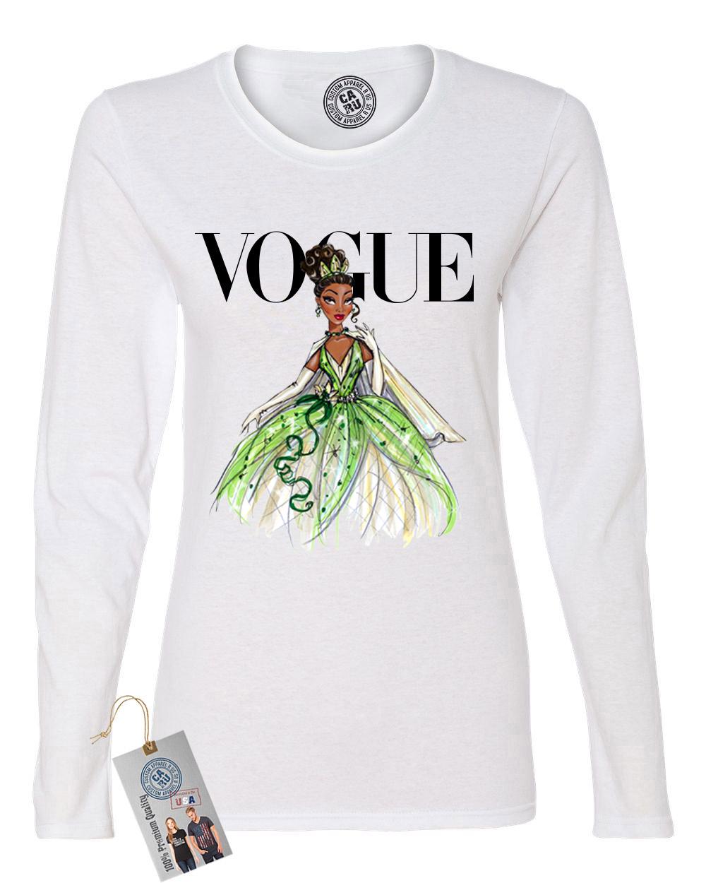 Custom Apparel R Us Vogue Princess Shirt Tiana Womens Long Sleeve