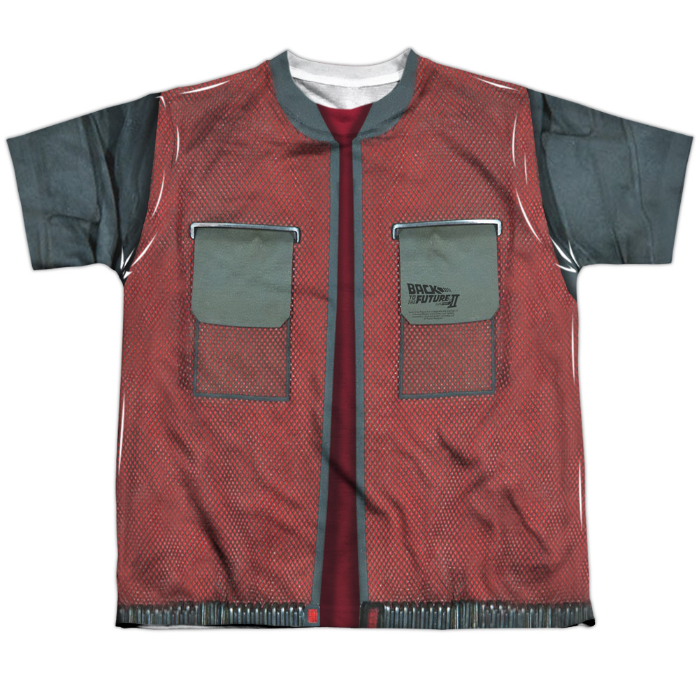 Back To The Future Future Jacket Big Boys Sublimation Shirt