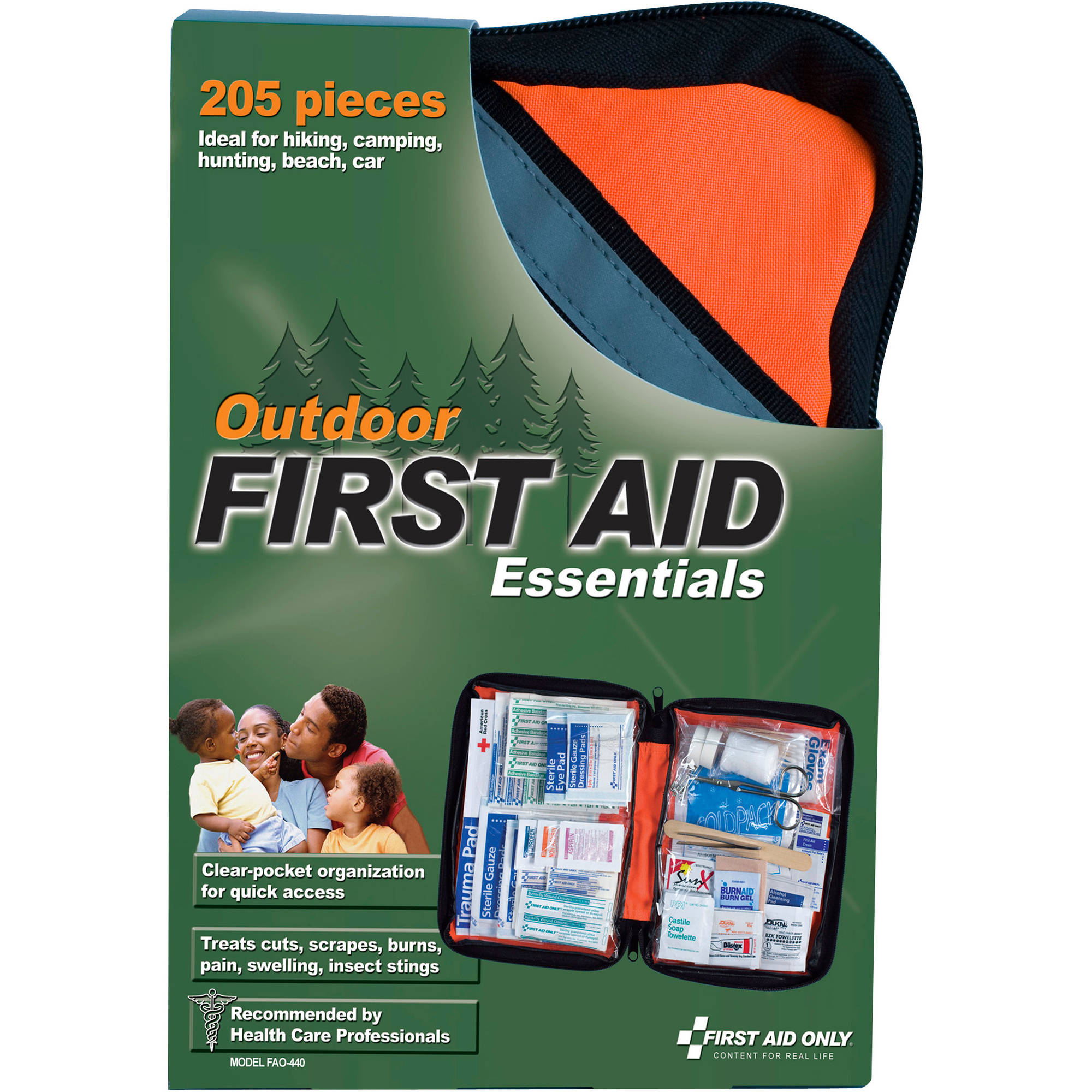 First Aid Only Outdoor First Aid Essentials Kit, 205 pc