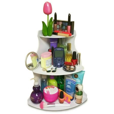 Now In White! Corner Cosmetic Organizing Shelf 16