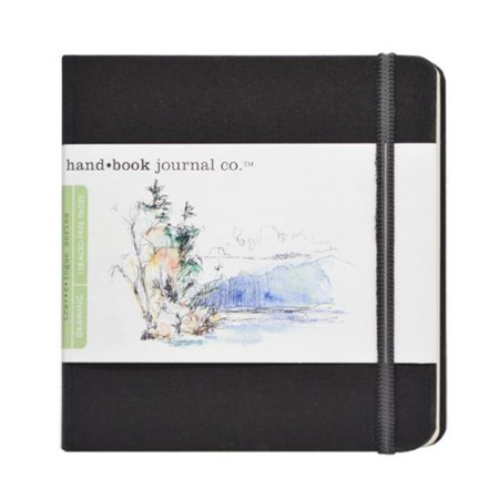 5-1/2-Inch by 5-1/2-Inch Drawing Book, The Square in Ivory Black By Global Art Materials Ship from - Drawing Materials