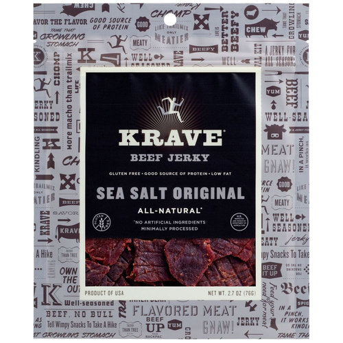 Krave Sea Salt Original Beef Jerky, 2.7 oz