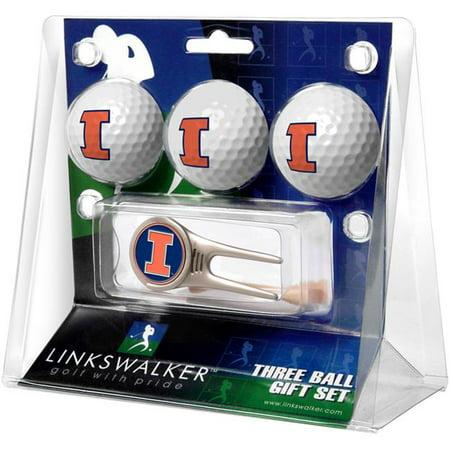 LinksWalker LW-CO3-IFI-3PKCAP Illinois Fighting Illini-Cap Tool 3 Ball Gift Pack - image 1 of 1