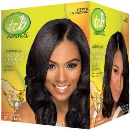 Regular Relaxer (TCB Naturals Regular Conditioning No-Lye Hair Relaxer Box )