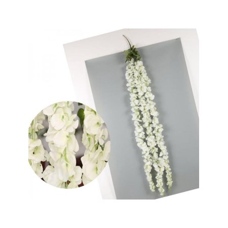 VICOODA White Wisteria Garland Hanging Flowers For Outdoor Wedding Ceremony Decor Silk Wisteria Vine Wedding Arch Floral Decor 120Cm/47.24Inch](Outdoor Wedding Decor)