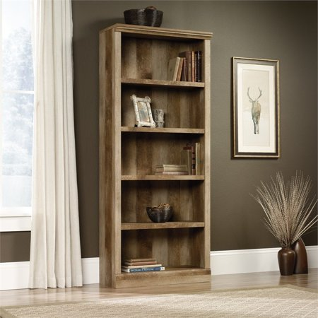Sauder East Canyon 5 Shelf Bookcase  Craftsman Oak Finish