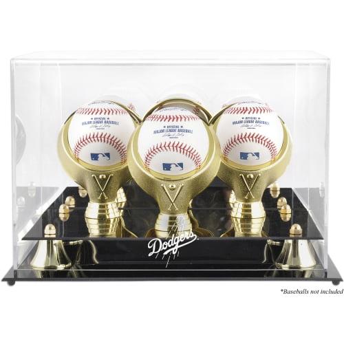 Los Angeles Dodgers Fanatics Authentic Golden Classic Three Baseball Logo Display Case - No Size