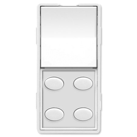 Four Button Single (Simply Automated UPB Faceplate, Single Rocker & 4 Oval Buttons, White)