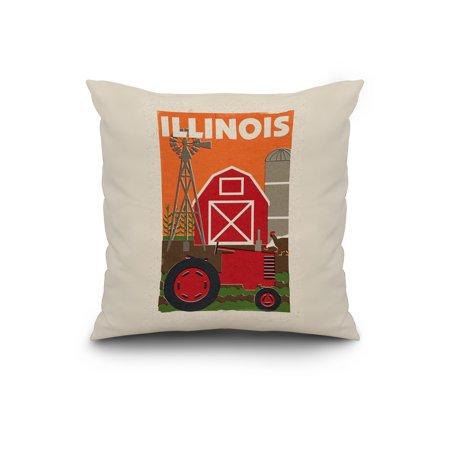 Illinois Country Woodblock Lantern Press Artwork 20x20 Spun Polyester