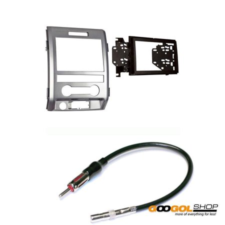 Metra Electronics 95-5820SS Silver Double DIN Installation Dash Kit For Select 2011-Up Ford F-150 Trucks W/ Antenna (Truck Dash Kits)