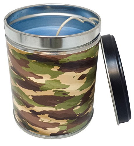 Summer Night Scented Candle in 13 Ounce Tin with a Camouflage Label By Our Ow...