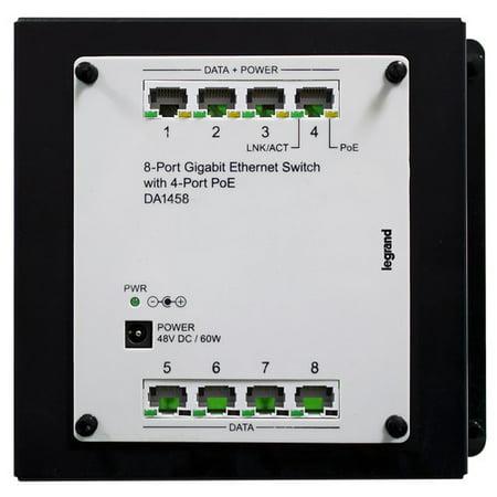 Legrand 8 Port Gigabit Switch with PoE Module