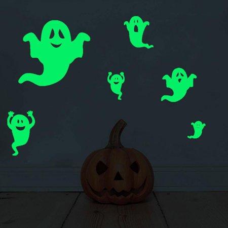 Halloween Luminous Wall Stickers Halloween Bats Furtive Eyes Home Decor Fluorescent Wallpaper Poster Glow In The (John Carpenter's Halloween Wallpaper)
