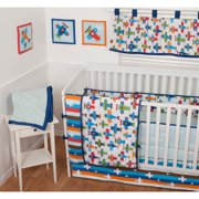 Sumersault Taking Flight 10pc Crib Beddi