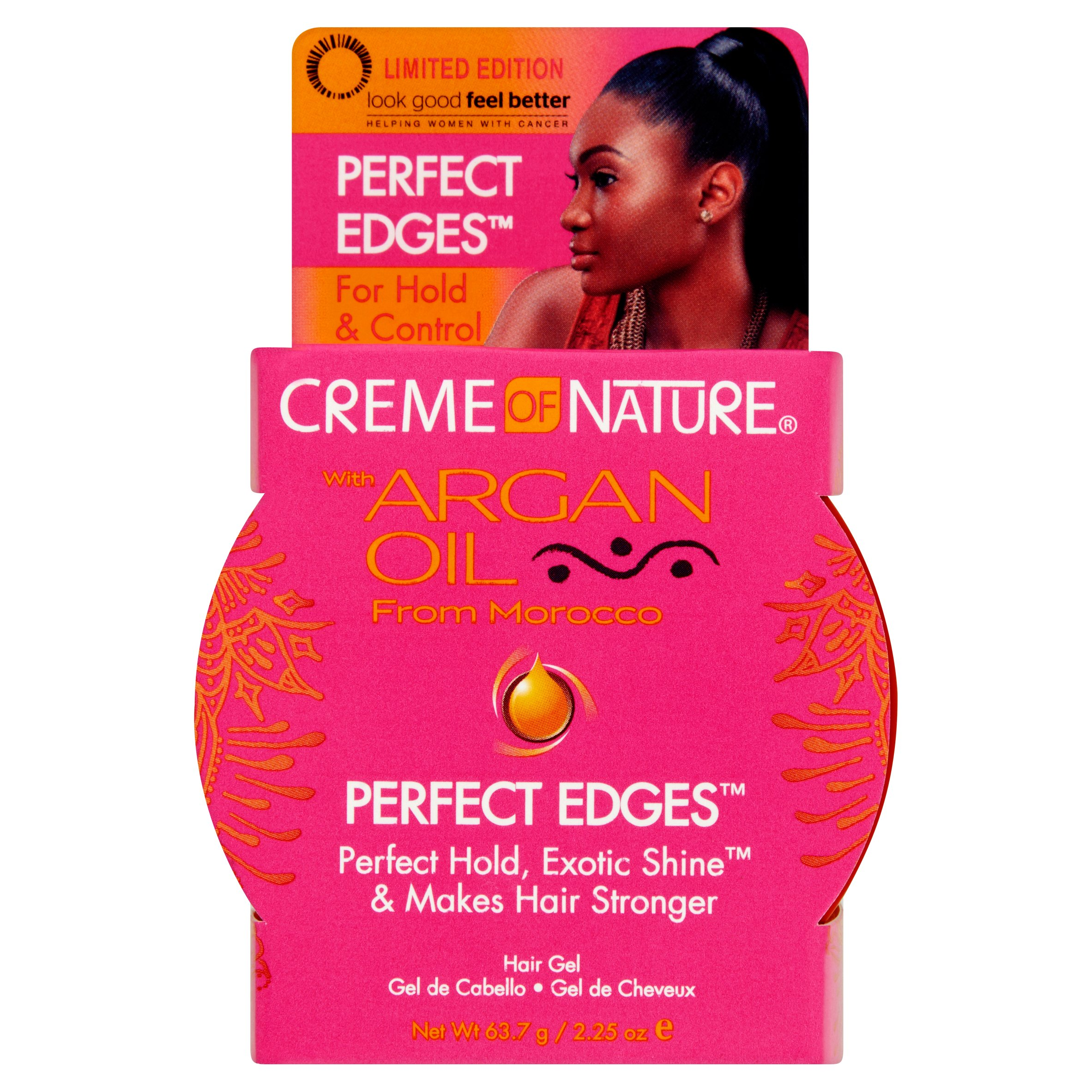Creme of Nature Limited Edition Perfect Edges Hair Gel with Argan Oil from Morocco, 2.25 oz