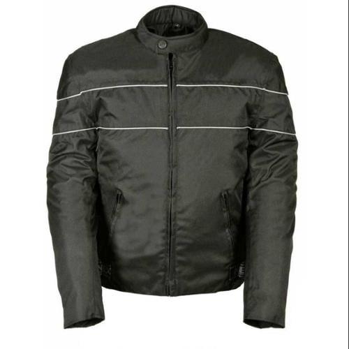 Nex Gen Men's Nylon Motorcycle Jacket w/ Reflective Piping SH212102