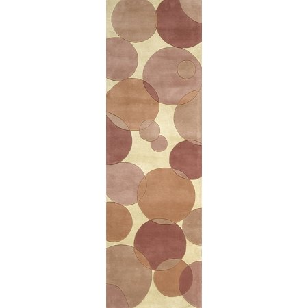 Momeni New Wave New Zealand Wool Hand Tufted Pink Runner 2'6