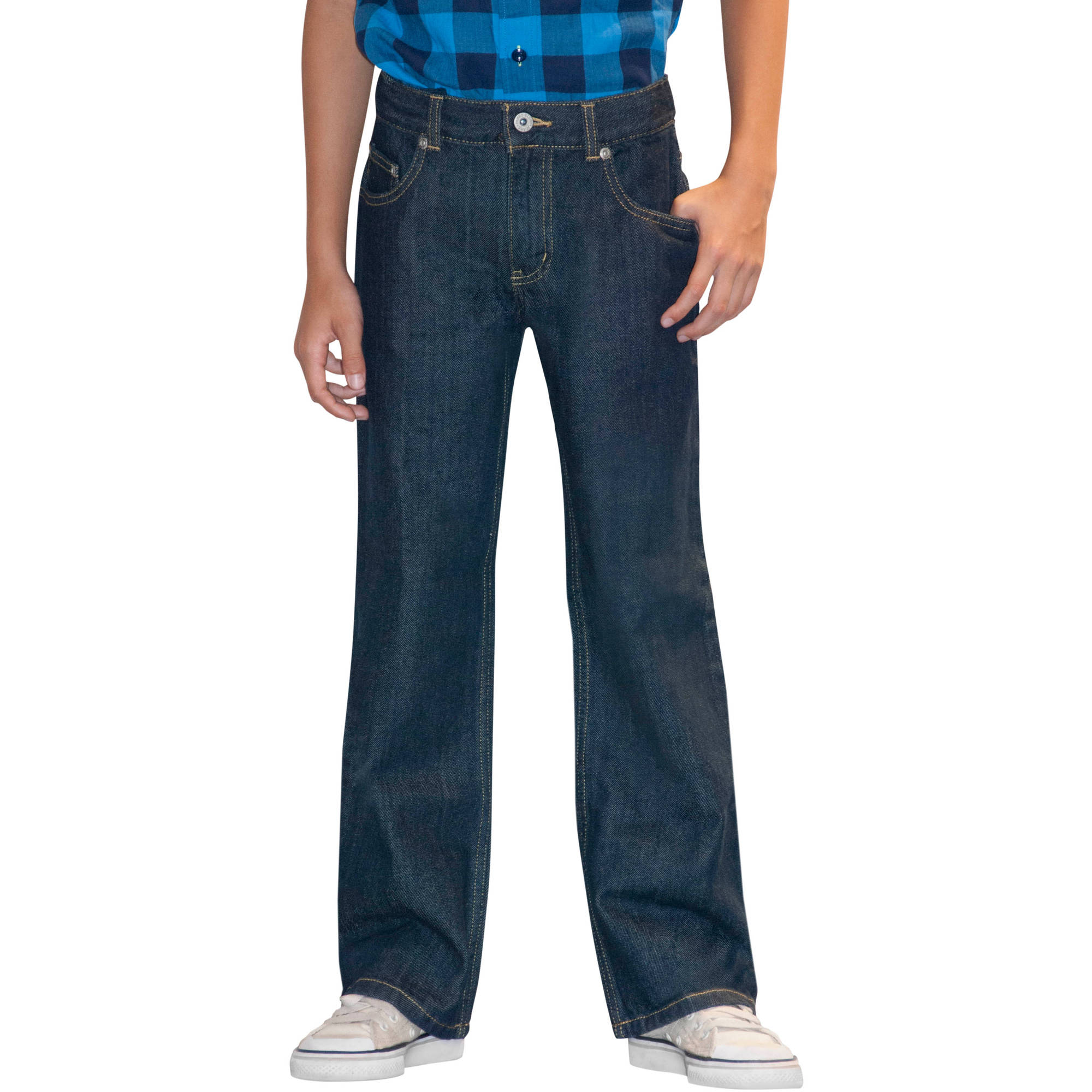 Faded Glory Boys&39 Bootcut Jeans 2 Pack Value Bundle - Walmart.com