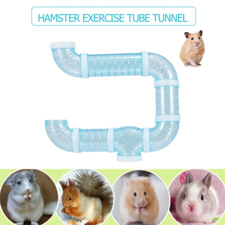Hamster Tube Tunnel Toy DIY Assorted Playground Module Toy Exercise for Hamster Mouse and Other Small Pets (Hamster Tubes)