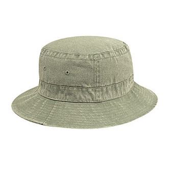 OTTO Garment Washed Pigment Dyed Cotton Twill Bucket Hat - Khaki