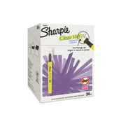 Sharpie Clear View Highlighter Stick, Chisel Tip, Assorted Fluorescent, 36 Count