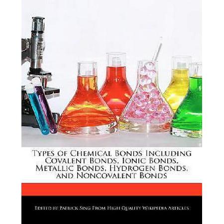 Types Of Chemical Bonds Including Covalent Bonds  Ionic Bonds  Metallic Bonds  Hydrogen Bonds  And Noncovalent Bonds
